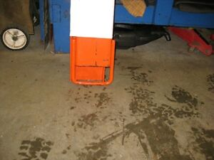 """Fork extension and Bushhog 8"""" tractor post hole auger"""