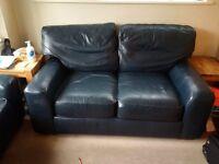 FREE Pair of dark blue leather sofas