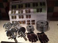 Weights Reebok Metal Hand Dumbbell Set