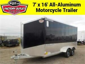 -*BLOWOUT DEAL*- 7 X 16 All-Aluminum Motorcycle Trailer!