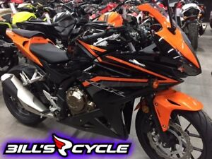 2017 HONDA On Road CBR 500 RAH   CBR with Abs Black Orange Metal