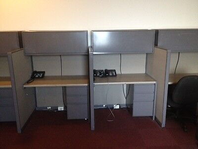 28 Partitioned Office Cubicles