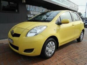 2009 Toyota Yaris NCP90R 08 Upgrade YR Yellow 4 Speed Automatic Hatchback Croydon Burwood Area Preview