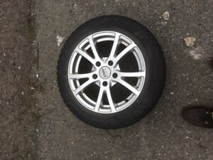 Alloy wheels with winter tires