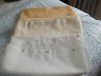 Set of 3 Good Quality Shower Curtains, White/Lemon & Cream £5