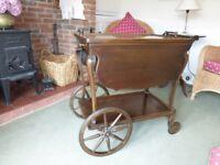 American antique tea trolley.
