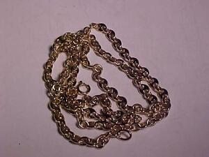 "#3124-14K Y/Gold GUCCI LINK DRESS CHAIN/NECKLACE..20"" LG-14.7 Gms- SHIP FREE-Canada ONLY-WILL ACCEPT EMAIL BANK TRANSFER"