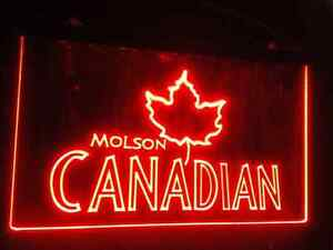 BRAND NEW MOLSON CANADIAN NEON LED SIGN!!