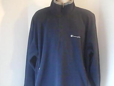 Champion Authentic Apparel Mens XL Black Fleece Sweat Shirt 100% Polyester Champion Fleece-sweatshirt
