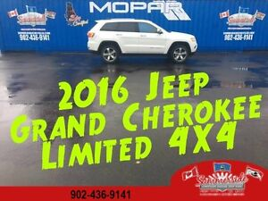 2016 Jeep Grand Cherokee Limited 4X4 Loaded Sunroof, Leather