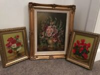 Collection of 3 x Maeve Somerset oil on board signed framed Paintings - Originals