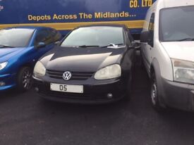 VW GOLF GT TDI 2005 BREAKING FOR SPARES