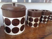 VINTAGE RETRO CANISTER METAL COUNTERPOINT JAPAN 4 SET 1960/70s Unley Unley Area Preview
