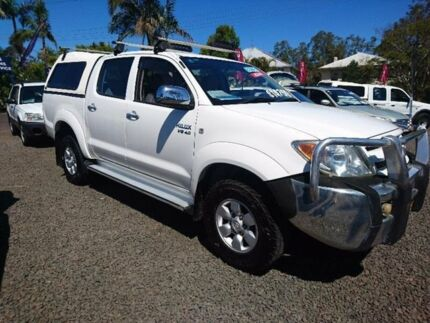 2005 Toyota Hilux GGN25R MY05 SR5 White 5 Speed Automatic Utility