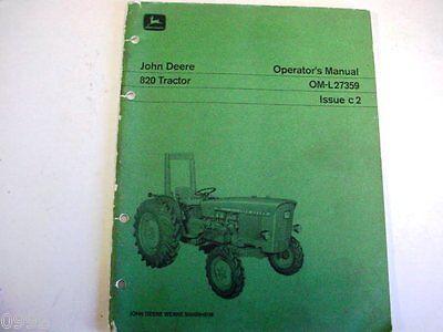John Deere 820 Farm Tractor Manual