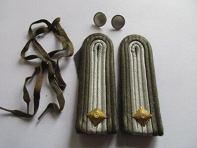NVA 1 paar Schulterstücke Fähnrich Luftverteidigung  grau /grober Stoff
