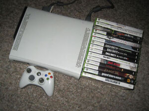 Xbox 360 Console + 1 Controller and 15 Games