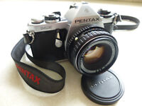Pentax MG 35mm camera with Pentax 50mm F2 lens