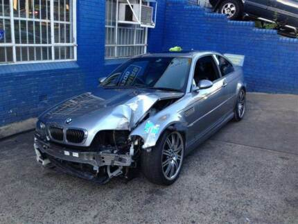 BMW M3 E46 WRECKING COMPLETE CAR FOR PARTS BMW M3 E46 SMG 2005
