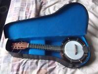 Vintage 8 string 'Dulcetta' mandolin banjo with case