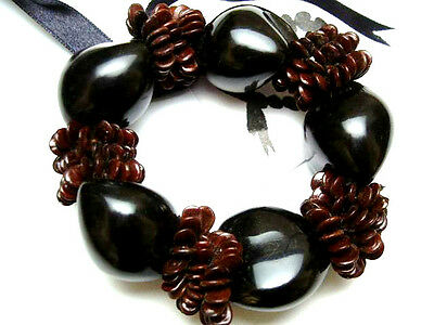 Hawaii Wedding / Graduation Kukui Nut Luau Hula Jewelry Bracelet~#24084 (QTY 2)