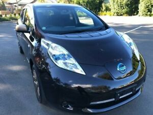 2014 Nissan Leaf ZE0 Dark Red Automatic Hatchback Five Dock Canada Bay Area Preview