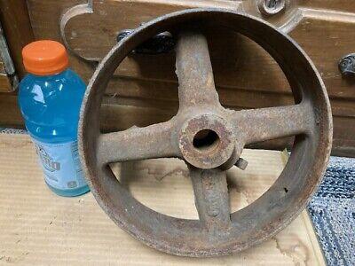 Antique Cast Iron 10x3 Flat Belt Pulley Line Shaft Gas Hit Miss Engine