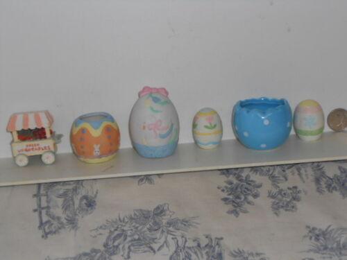 Lot of Vtg. Colored Easter Egg Figurines
