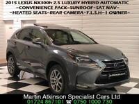 2015 64 Lexus NX300h 2.5 Luxury Hybrid Automatic Convenience Pack~SUNROOF~
