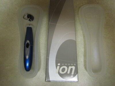CROSS ION AURORA BLUE ROLLERBALL 812-6 GEL INK PEN WITH QUICK CLIP NIB