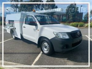 2014 Toyota Hilux TGN16R MY14 Workmate 4x2 White 4 Speed Automatic Cab Chassis Pakenham Cardinia Area Preview