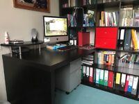 Kallax 5x5 bookcase and desk