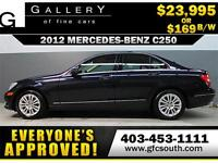 2012 MERCEDES C250 4MATIC *EVERYONE APPROVED* $0 DOWN $169/BW!