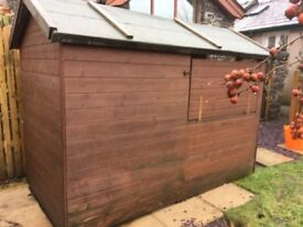 Shed style DOG KENNEL, covered run, or airy LOG STORE, shed or chicken house