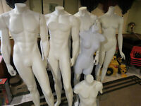 4 Life Size Mannequins with 2 Torsos All for $150.00
