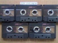 A2Z 5x RARE SONY UX90 MICROFINE UNIAXIAL CHROME GUARANTEED CASSETTE TAPES 1988-89 W/ CCLs & FREE PP