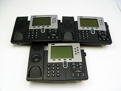 Lot Of 3 Cisco 7961 Unified Ip Phones