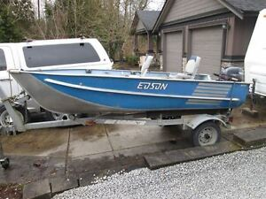 12' Edson Rover aluminum boat and motor