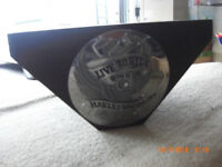 "Harley Davidson Stand/Plinth Wood with HD Emblem on front ""Live to Ride"""