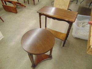 2 VINTAGE SMALL SIDE TABLES NICE
