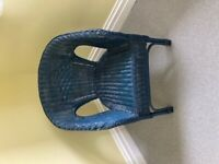 Navy wicker chair