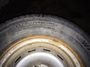 Chevy 6 bolt rims Lt245/75r16 mud and snow Tires winter Strathcona County Edmonton Area image 1