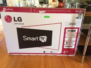 "LG SMART FLAT SCREEN TV 47"" MUST GO TODAY"