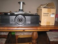 Panasonic PT-AE2000E LCD HD projector, ceiling mount and new spare lamp
