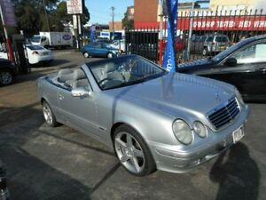 2001 Mercedes-Benz CLK320 CONVERTIBLE C208 ELEGANCE COUPE 2DR AUTO 5SP 3.2i Silver Automatic Croydon Burwood Area Preview
