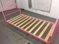 Pink Single Bedstead - great condition