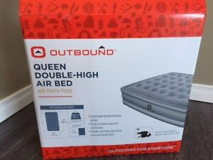 BRAND NEW IN THE BOX QUEEN DOUBLE AIR MATTRESS WITH PUMP