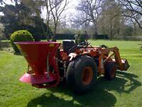 Compact Tractor Fertiliser/ Salt/ Sand/ Seed spreader. 335ltr/ 250kg Capacity. 6-12m Spread