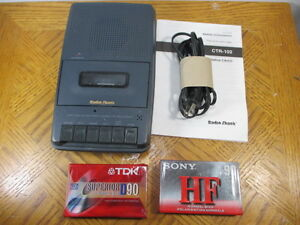 Cassette tape recorder and cassettes