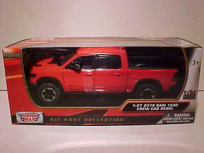 2019 Dodge Ram 1500 Crew Cab Laramie Diecast Truck 1:27 Motormax 8in Silver 1//24